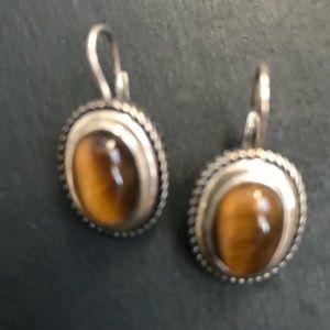 Genuine VintageTigers Eye Earrings